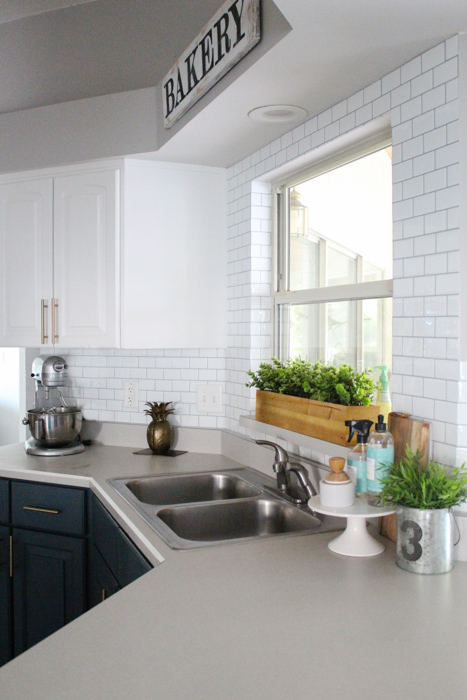 Using Self-Adhesive Wall Tile for our Kitchen Backsplash ...